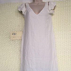 Zara Basic Chain Dress WHITE Size XS #80